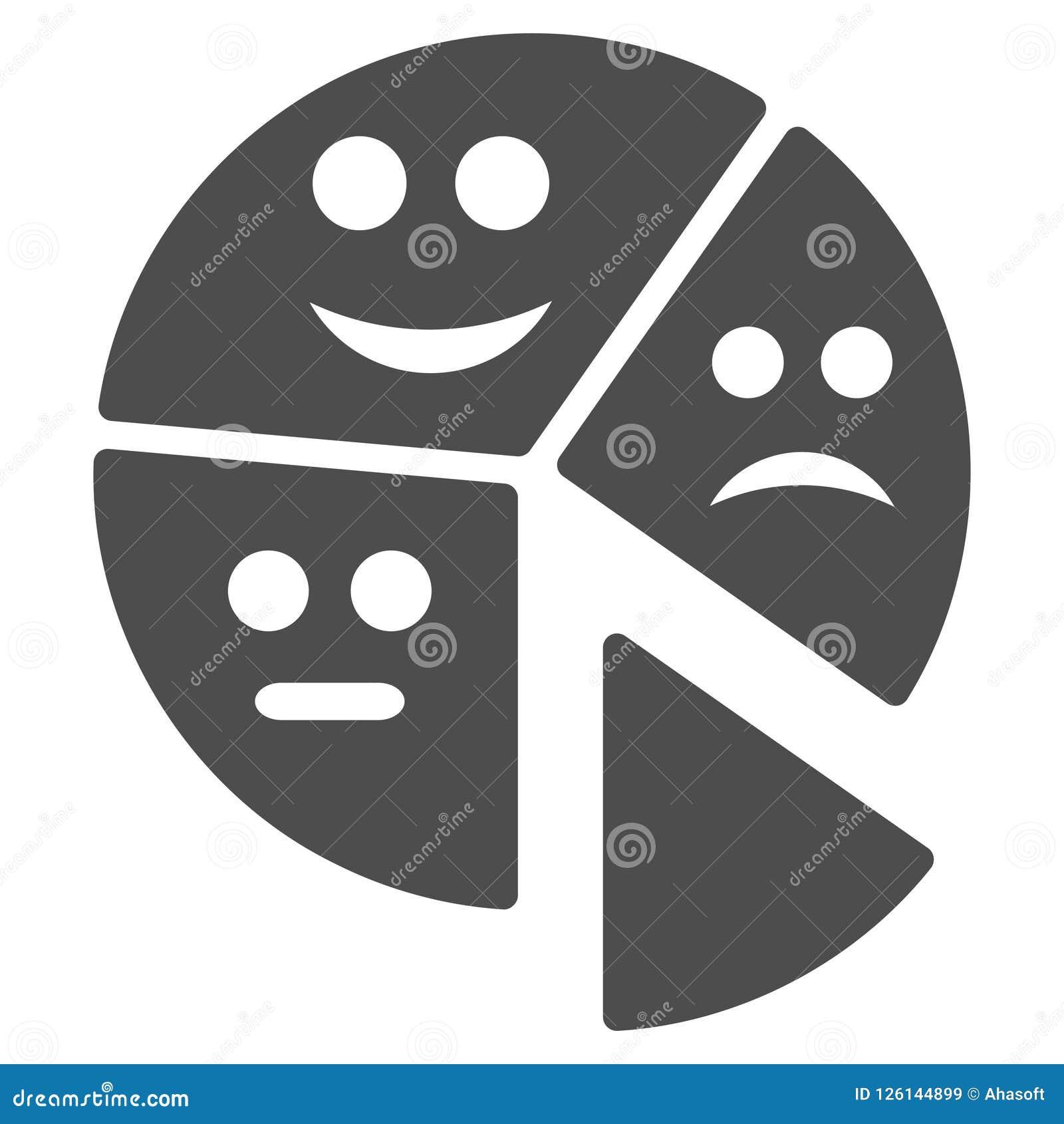 Icône plate de graphique circulaire d émotion