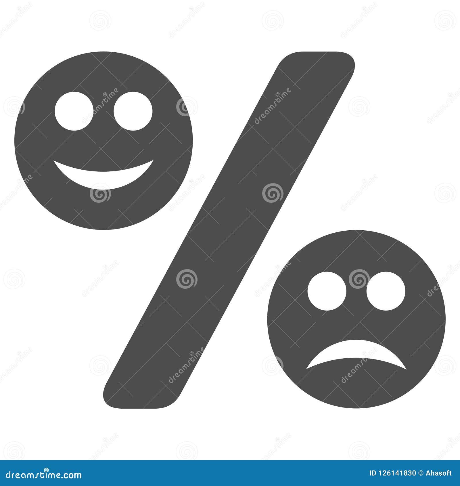 Icône plate de pour cent d émotion