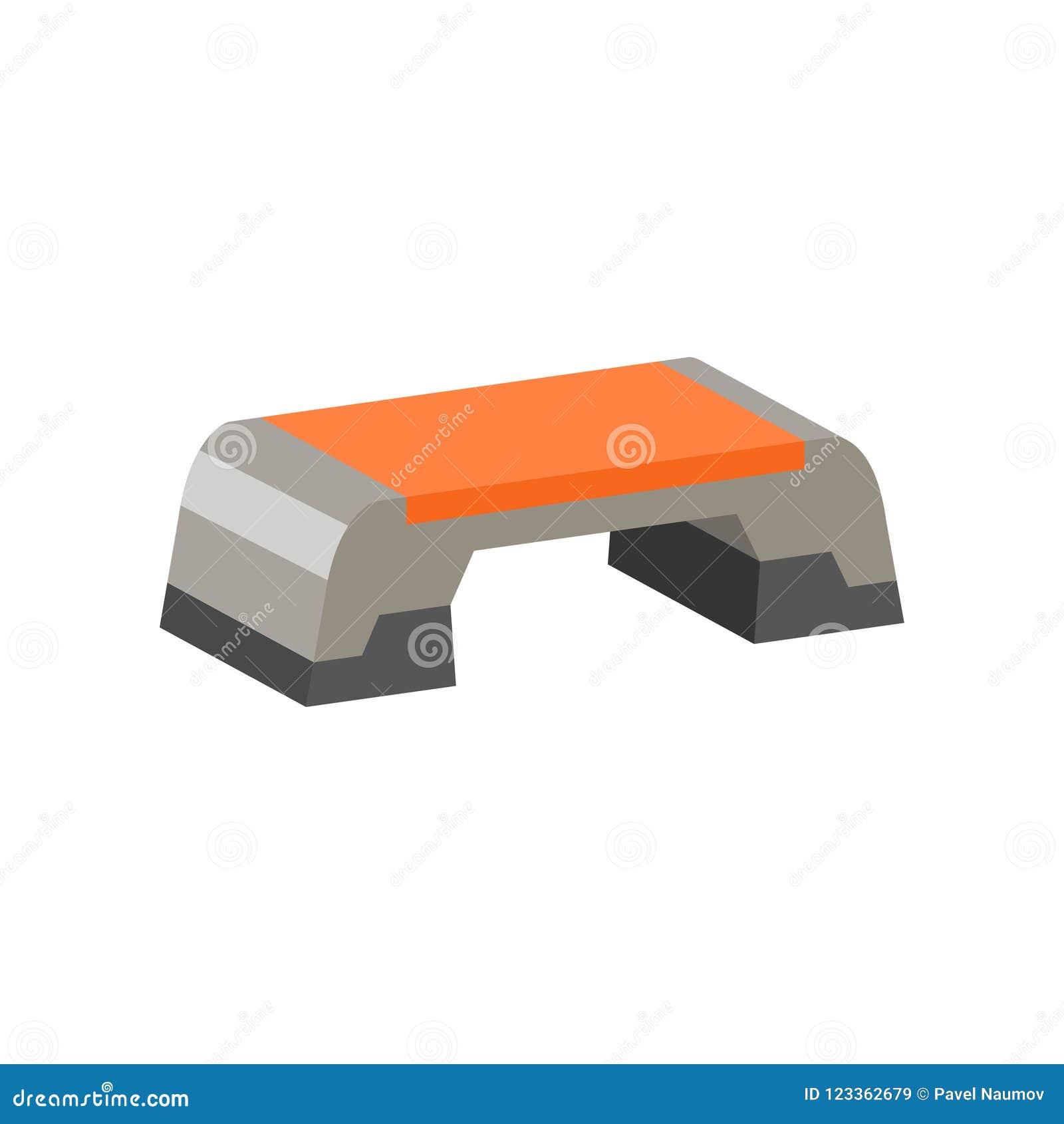 Icône plate de vecteur de plate-forme d étape Équipement d exercice Thème d aérobic Élément pour l affiche de promo ou la bannièr