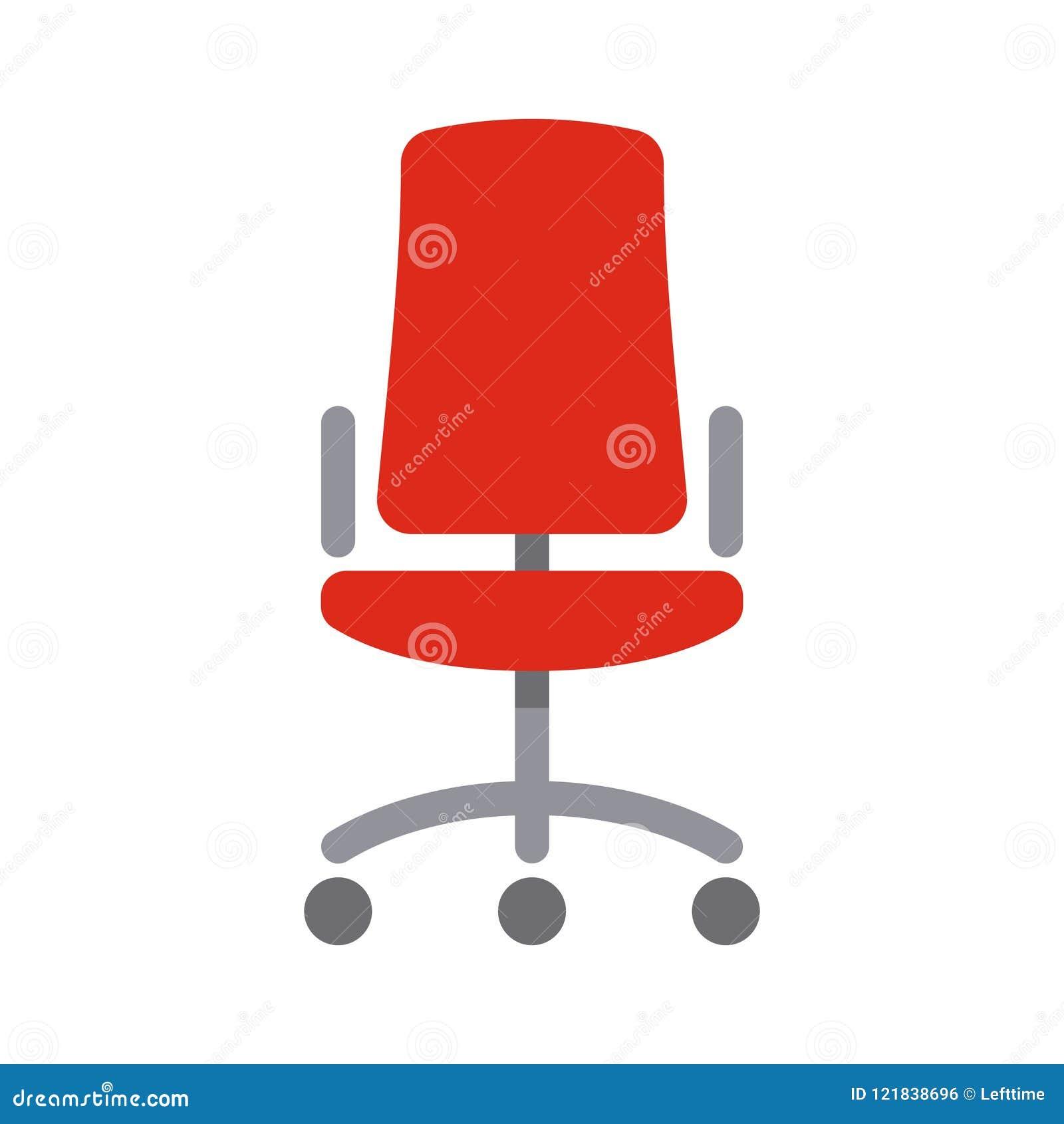 ic ne plate simple de style de chaise rouge de bureau illustration de vecteur illustration du. Black Bedroom Furniture Sets. Home Design Ideas