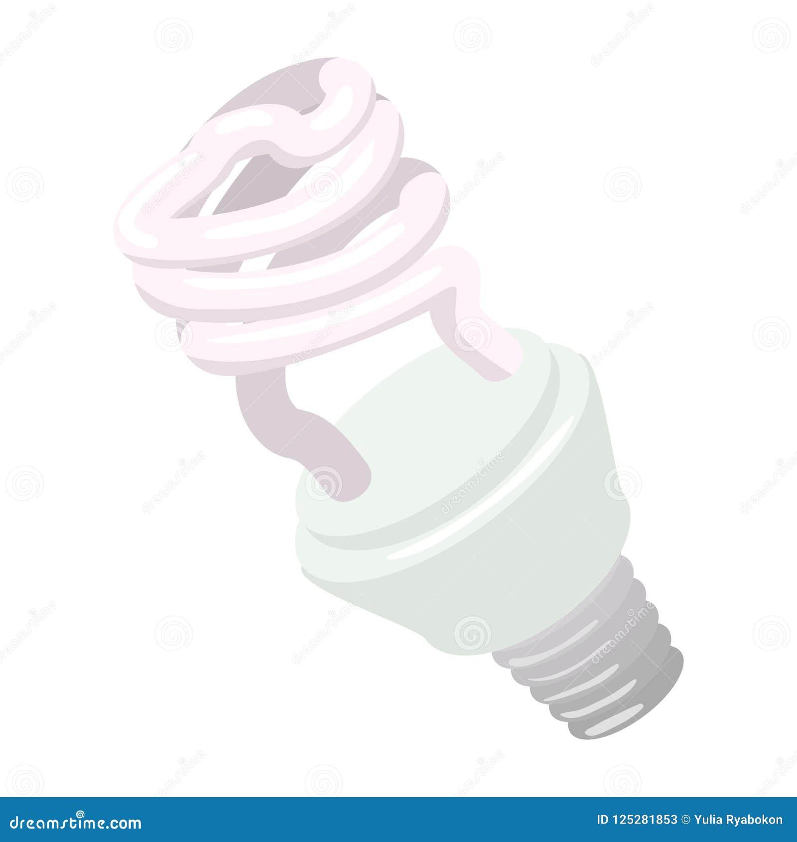 Icône powersaving efficace de bande dessinée d ampoule