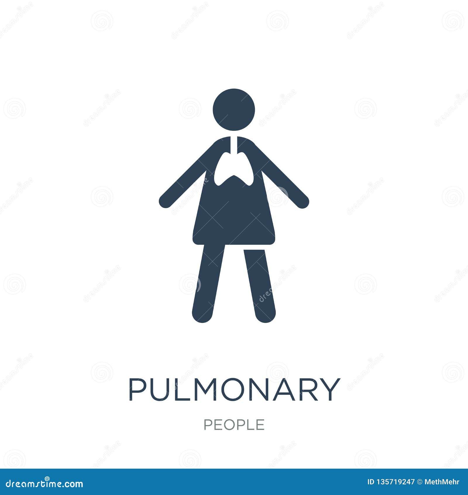 Icône pulmonaire dans le style à la mode de conception icône pulmonaire d isolement sur le fond blanc appartement simple et moder