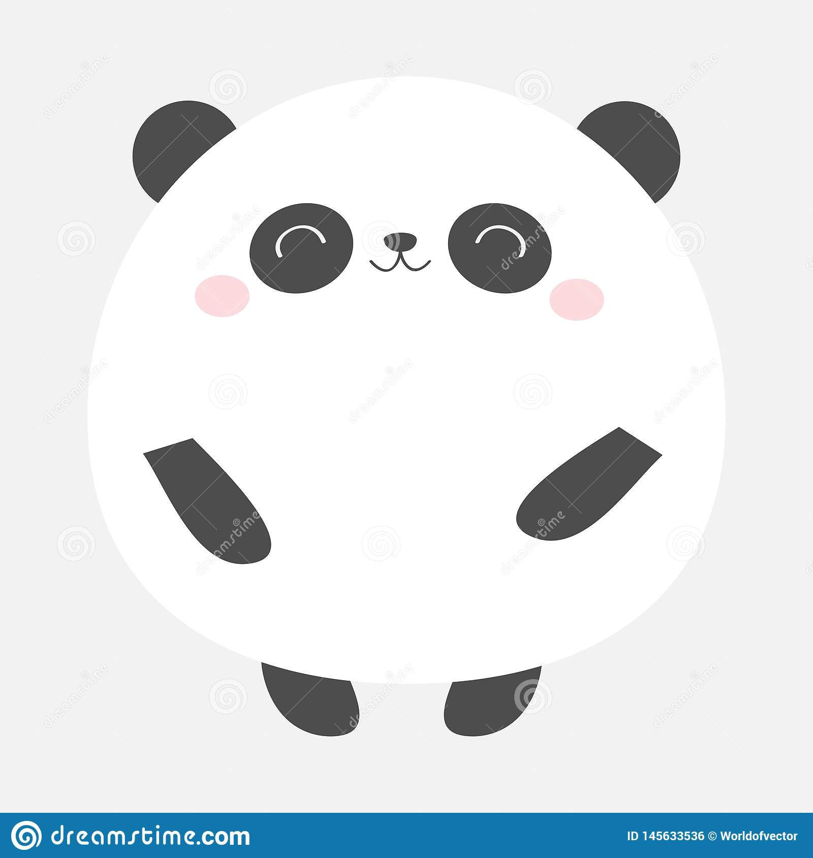 Icône Ronde Dours Panda Rebecca 36 Animal De Kawaii