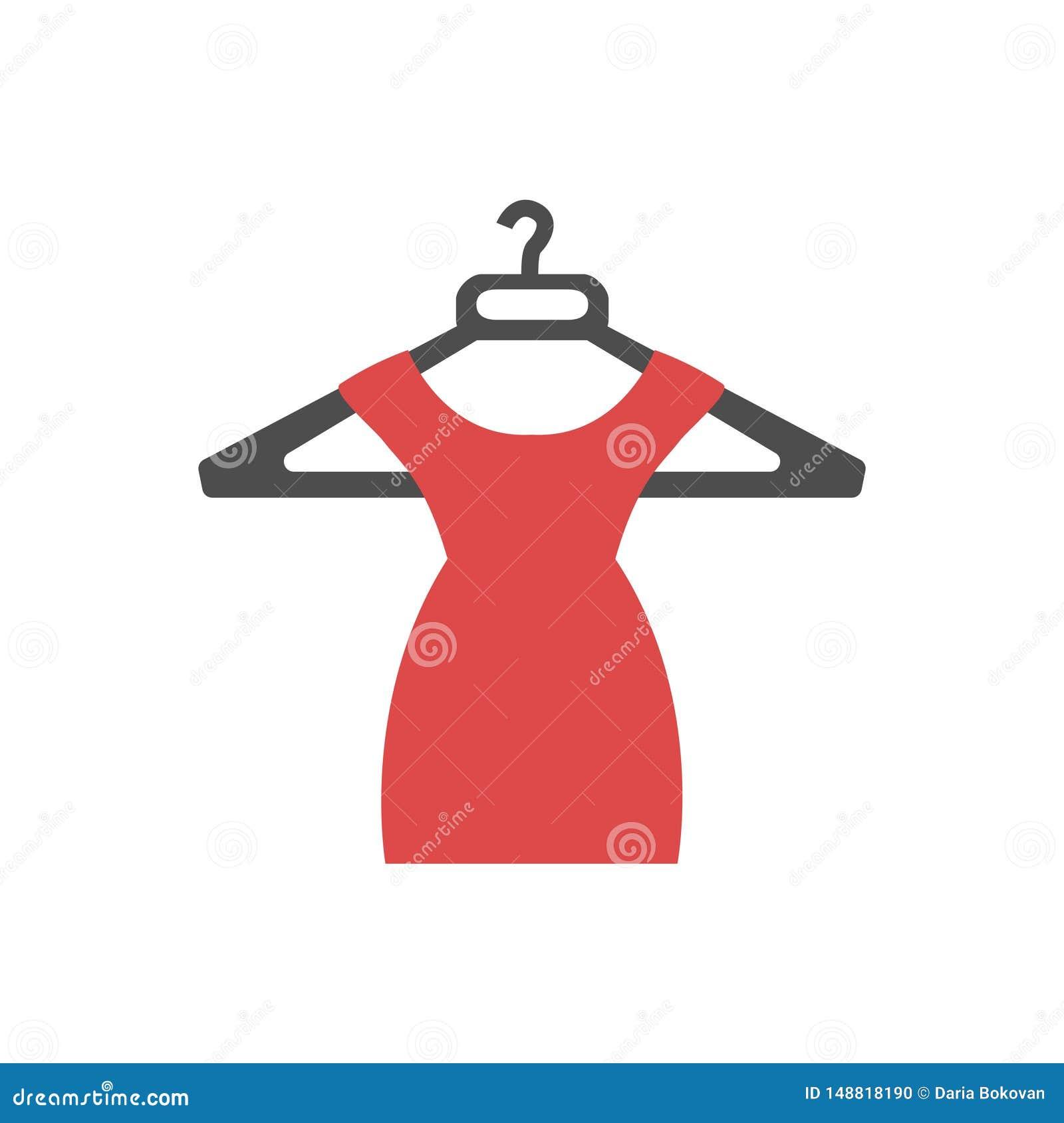 Icône rouge de robe