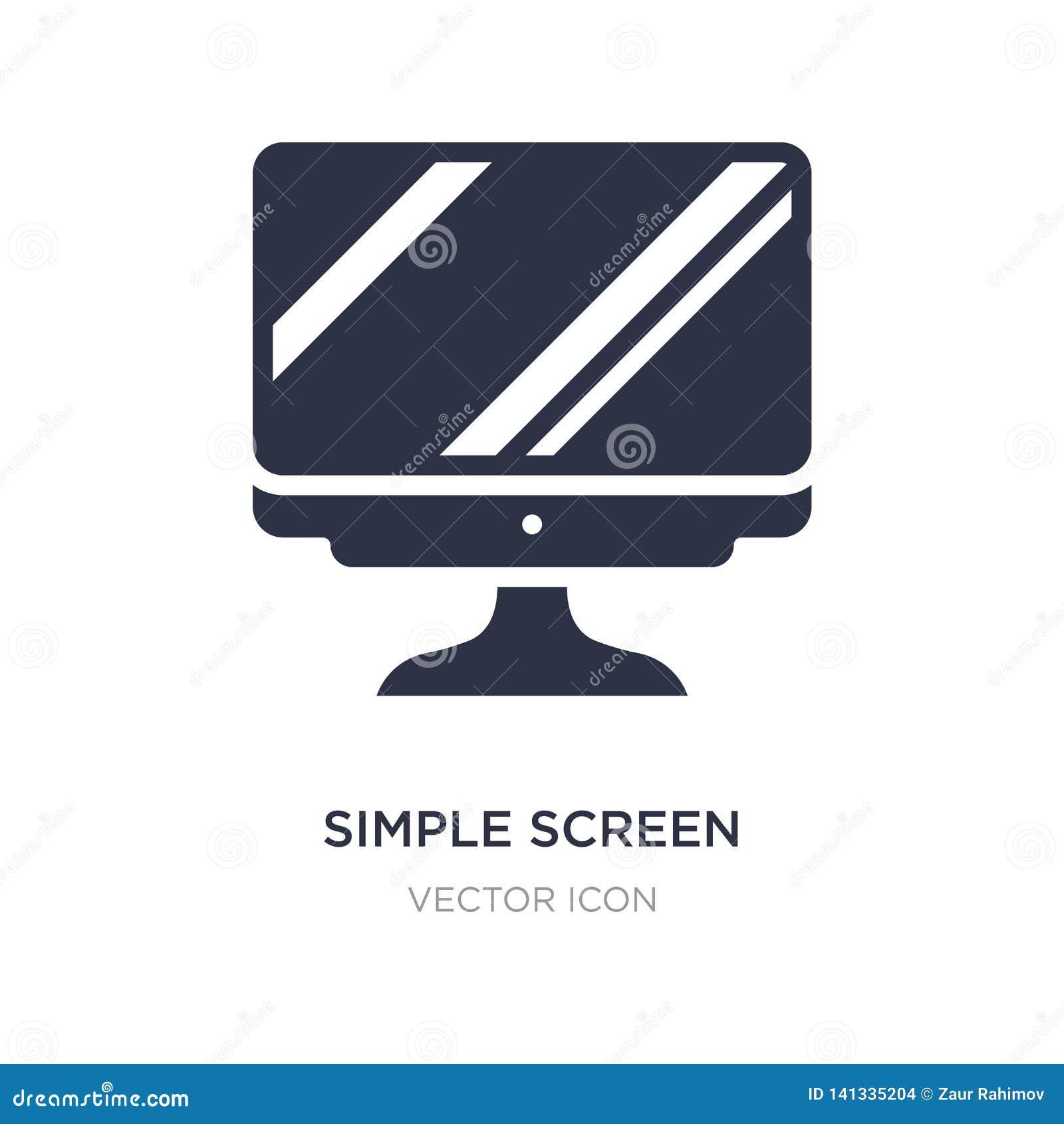 Icône simple d écran sur le fond blanc Illustration simple d élément de concept de technologie
