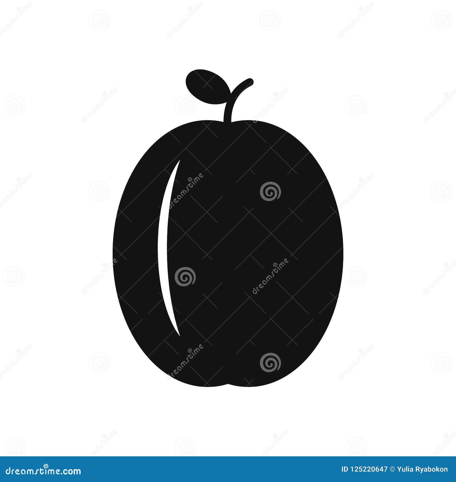 Icône simple de prune