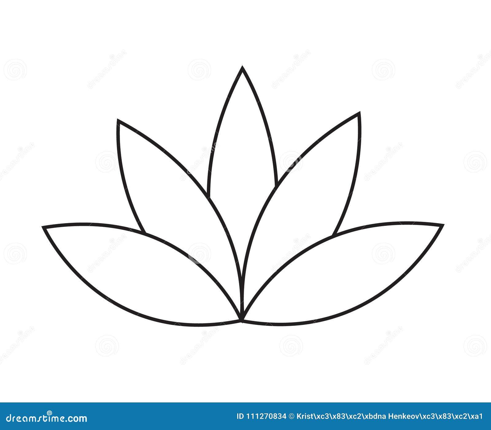 Icône Simple De Vecteur De Fleur De Lotus Ou De Nénuphar D