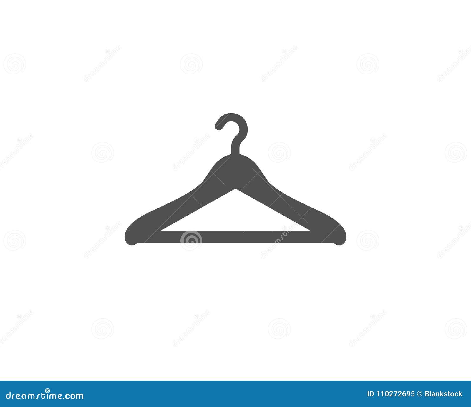 Icône simple de vestiaire Signe de garde-robe de cintre