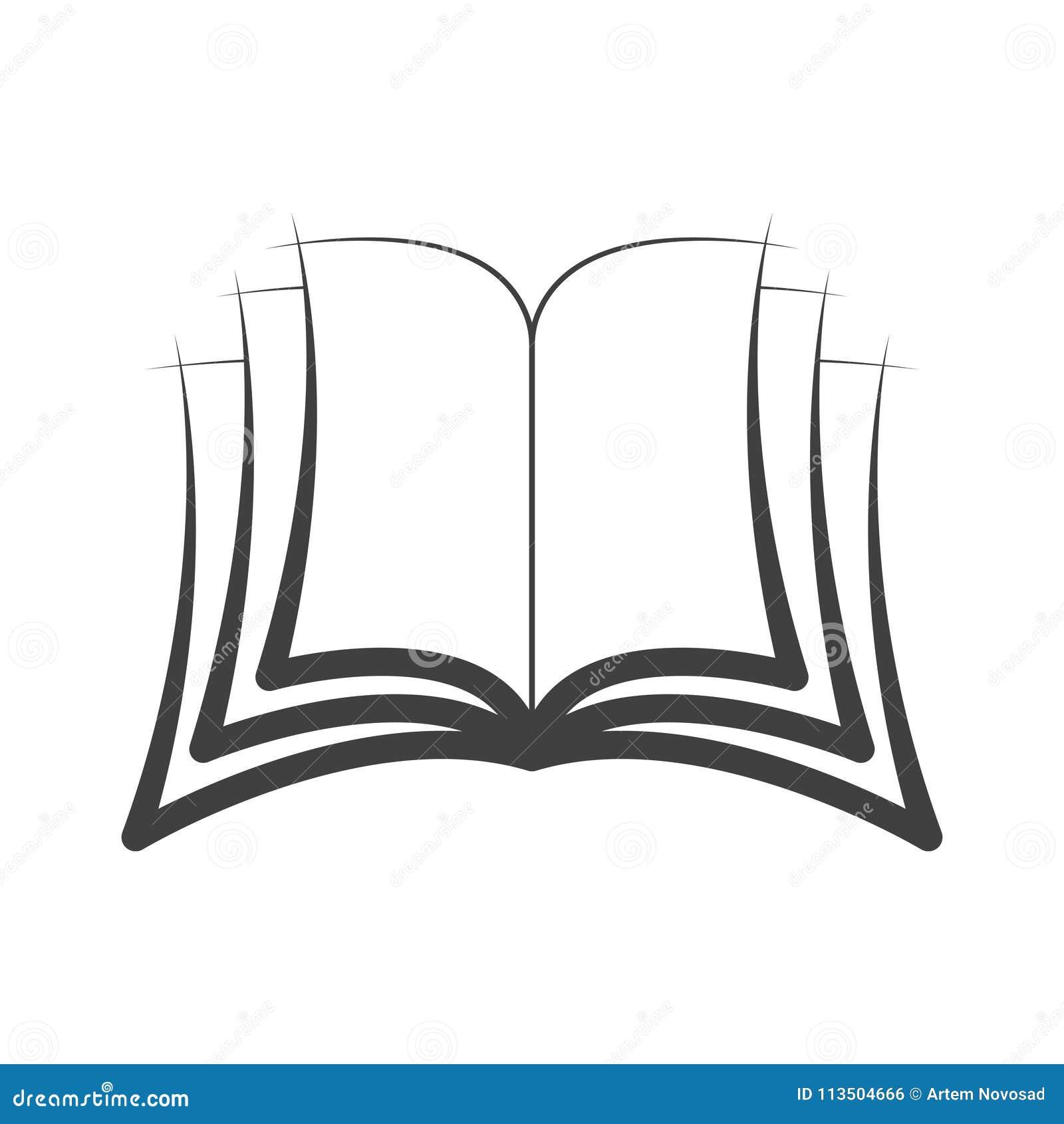Icone Symbole Logo Ouvert De Livre Vecteur D Isolement
