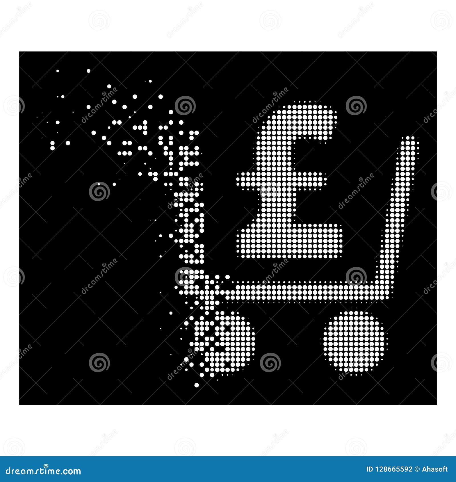 Icône tramée de dissolution lumineuse de contrôle de livre de pixel