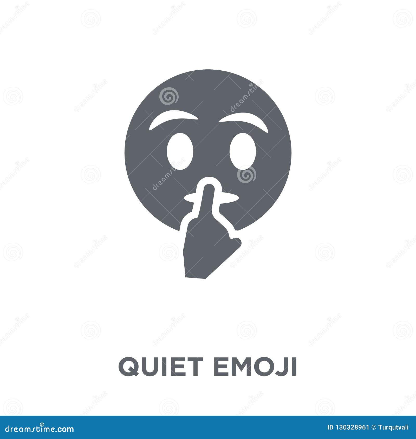 Icône tranquille d emoji de collection d Emoji