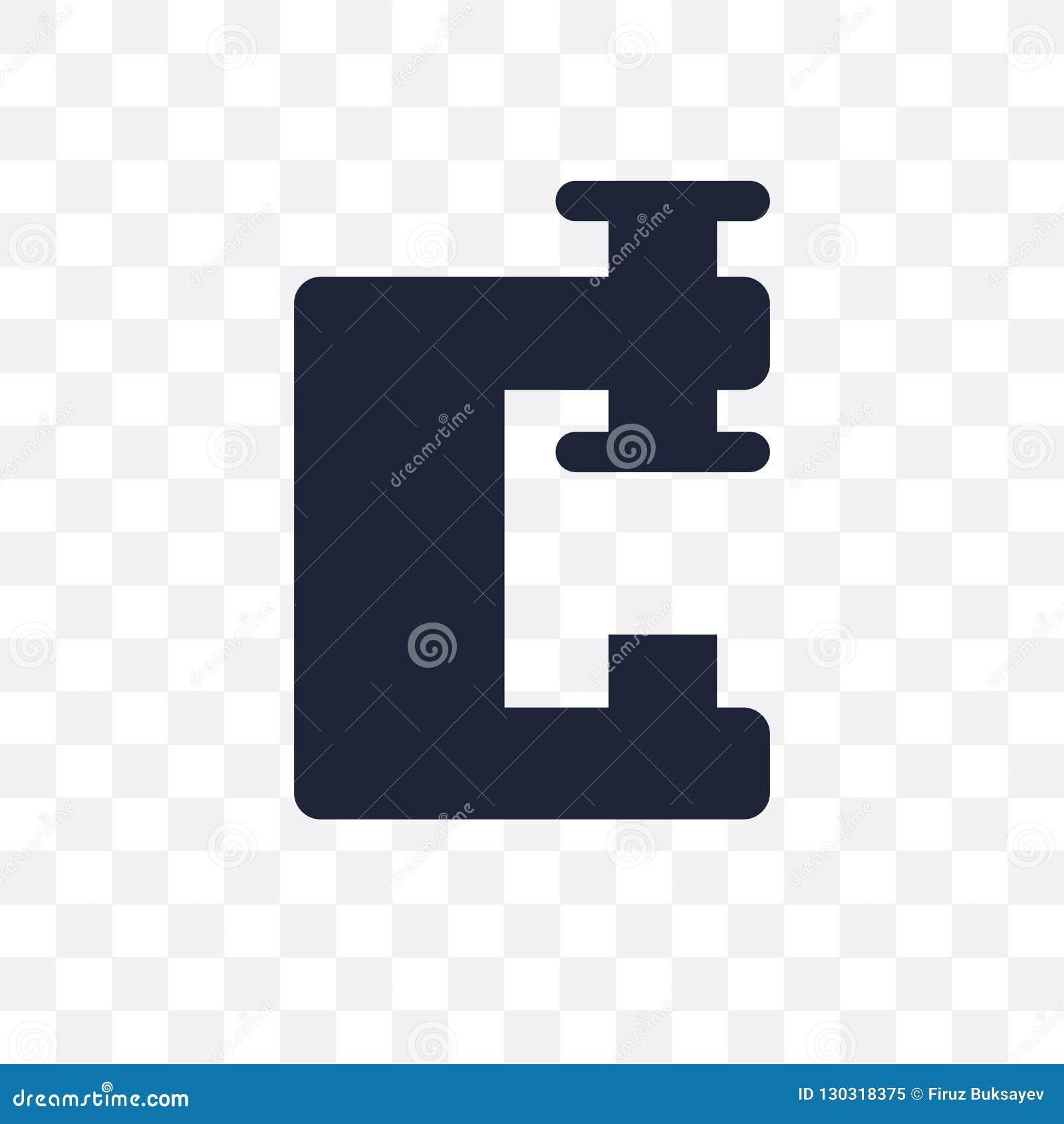Icône transparente d étau Conception de symbole d étau de coll de construction