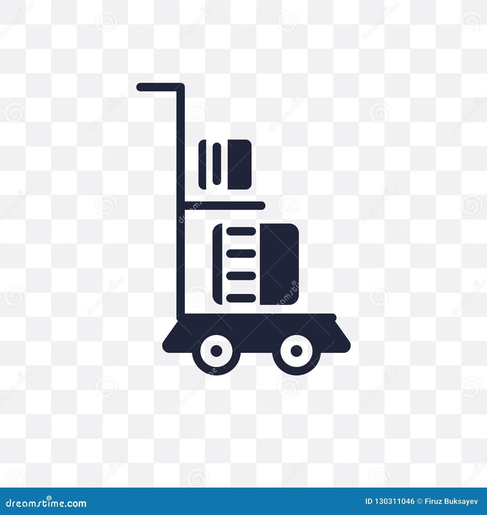 Icône transparente de chariot de la livraison Conception de symbole de chariot de la livraison de