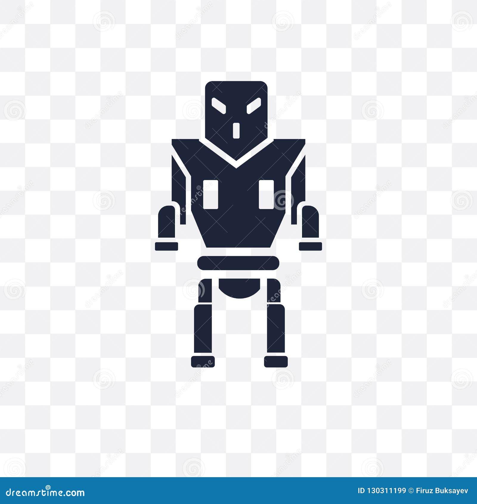 Icône transparente de machine militaire de robot Machine militaire de robot