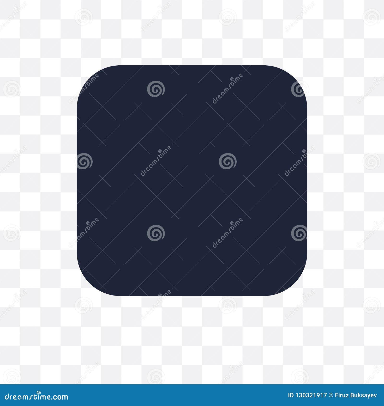 Icône transparente de rectangle Conception de symbole de rectangle de Geometr
