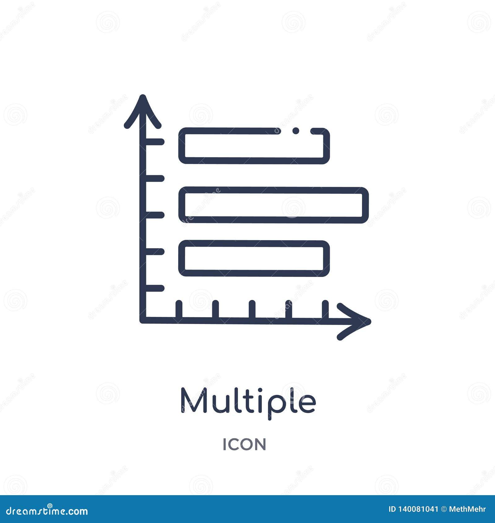 Icône variable multiple de barres verticales de collection d ensemble d interface utilisateurs Ligne mince icône variable multipl