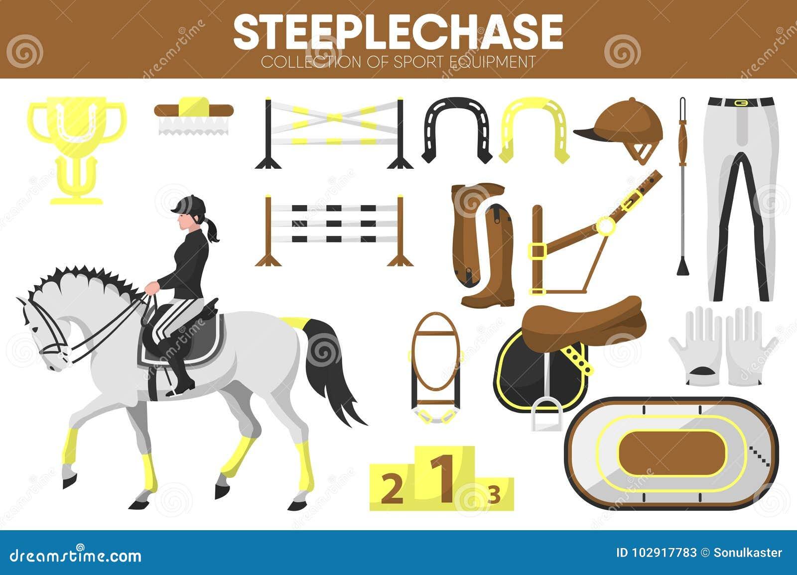 fae9893a2099 Icônes accessoires de vecteur de vêtement de cavalier de course de chevaux  d équipement de sport