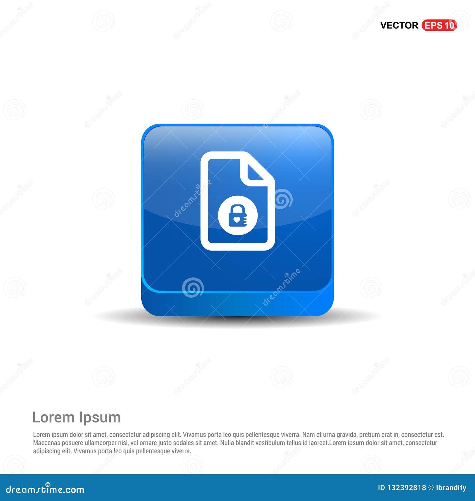 Icônes de fichiers informatiques - bouton du bleu 3d