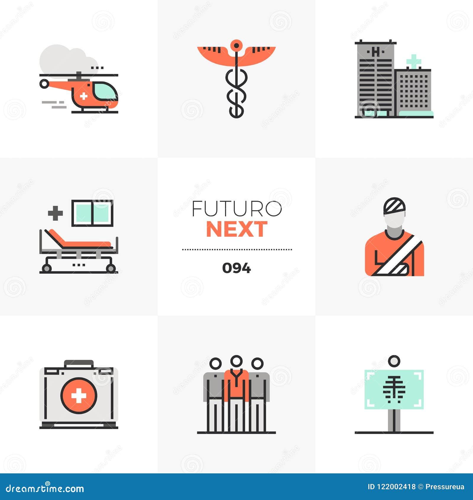 Icônes de Futuro d ambulance prochaines