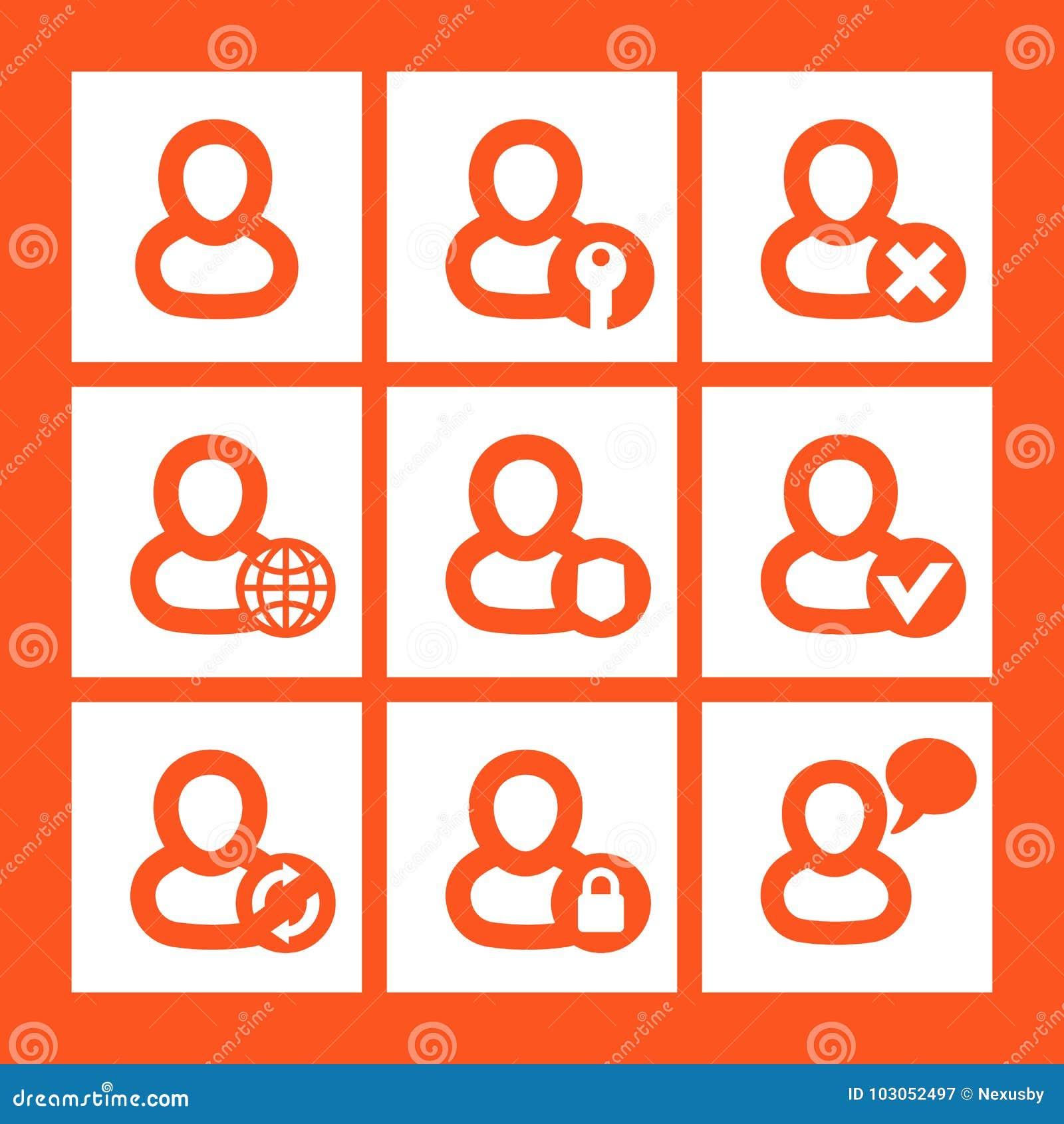 Icônes de login, compte, pictogrammes d identifiez-vous