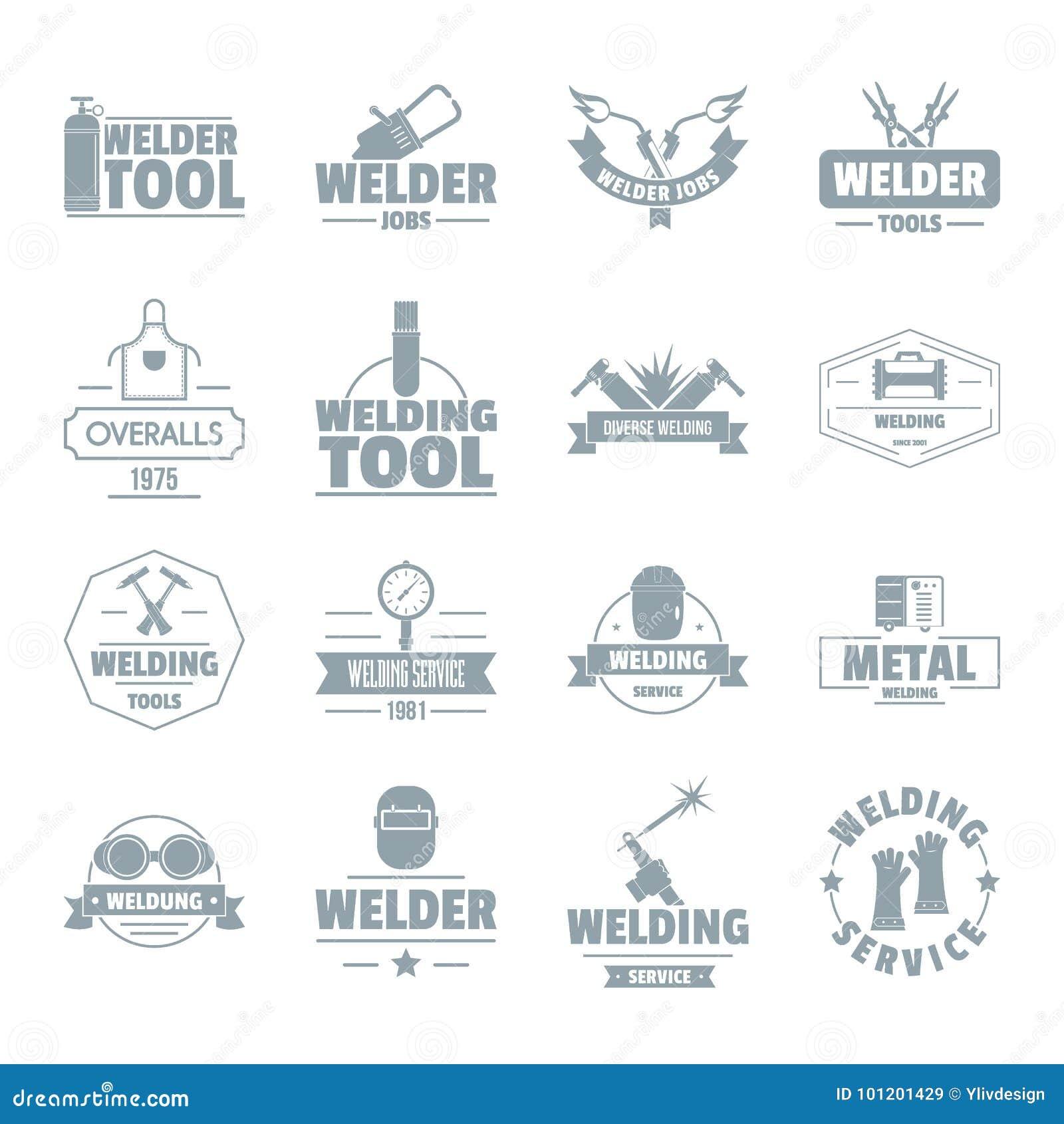 Icônes de logo de soudure réglées, style simple