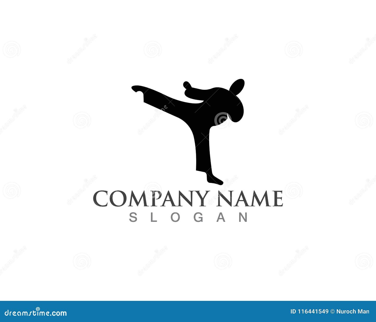 Icônes de logos de karaté