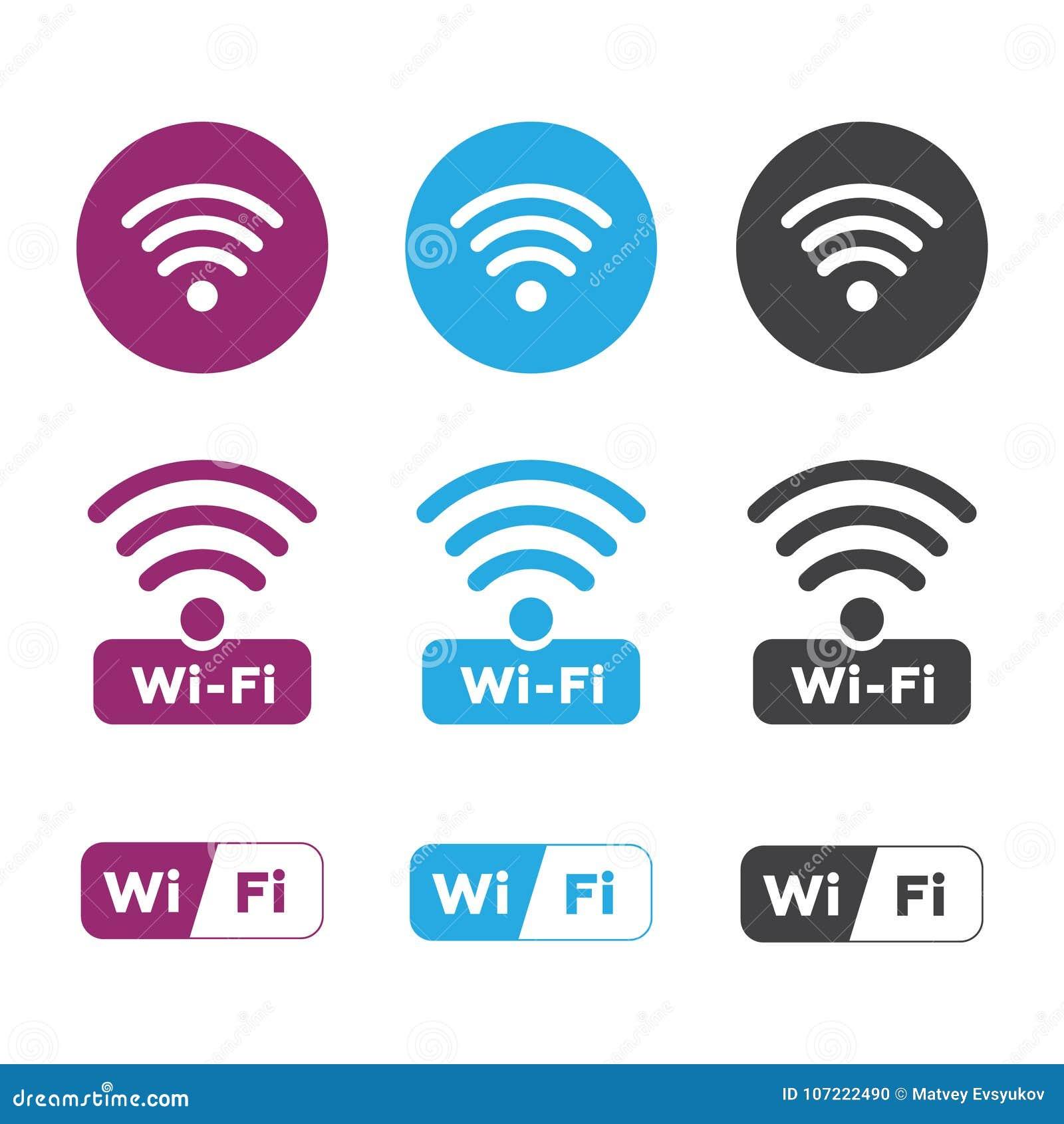 Icônes de radio et de wifi Icône de wifi de symbole de réseau sans fil Radio  et wifi bfd3b2d4c492