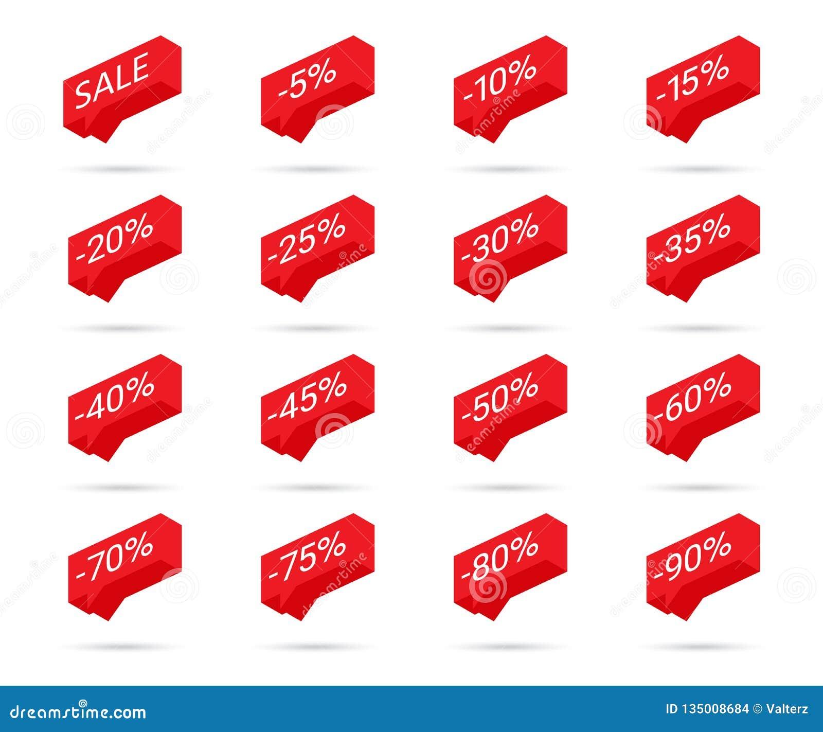 Icônes de remise de pour cent Icônes de remise de vente Éléments de conception d étiquette de remise Icônes de bulle de vente de