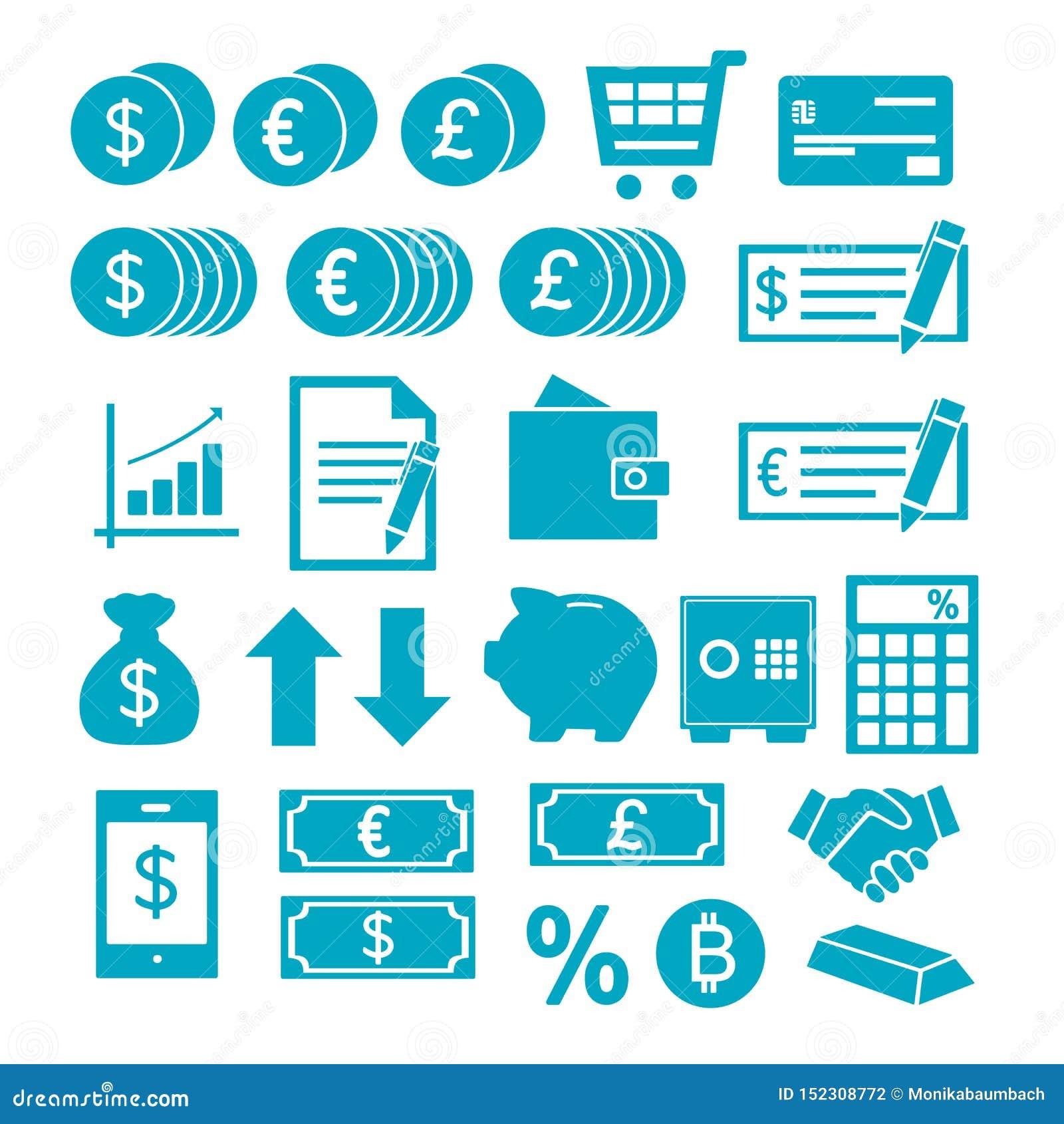 Icônes de vecteur réglées pour créer l infographics au sujet des finances, achats, économie