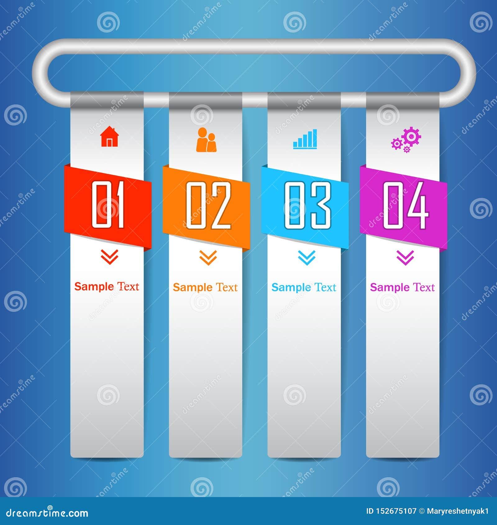 Icônes infographic de vecteur et de vente de conception de Colorfull calibre moderne d infographics d affaires pour le site Web,