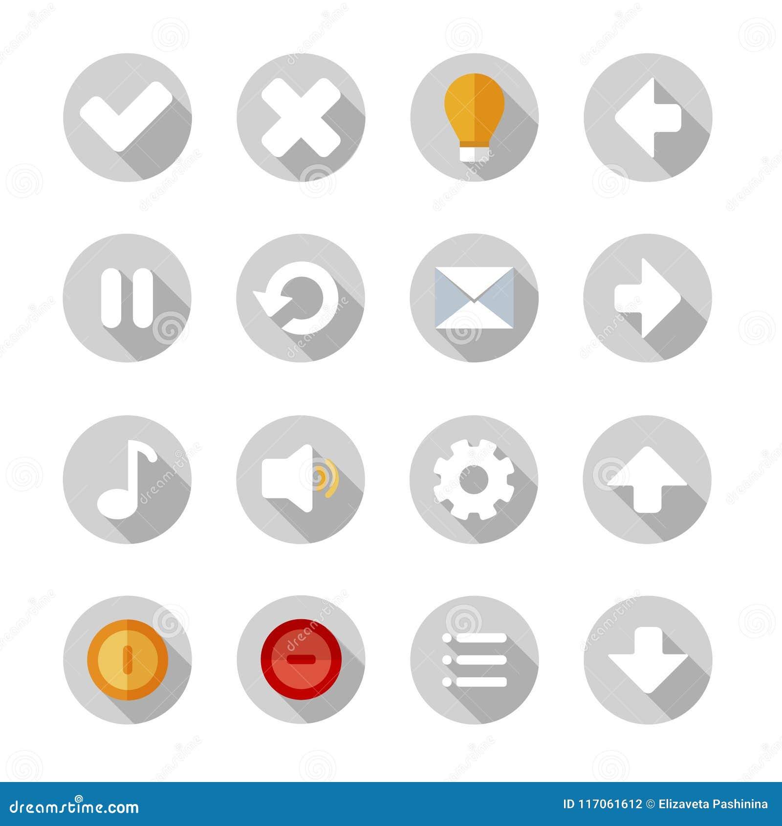 Icônes ou boutons réglés pour l application de téléphone