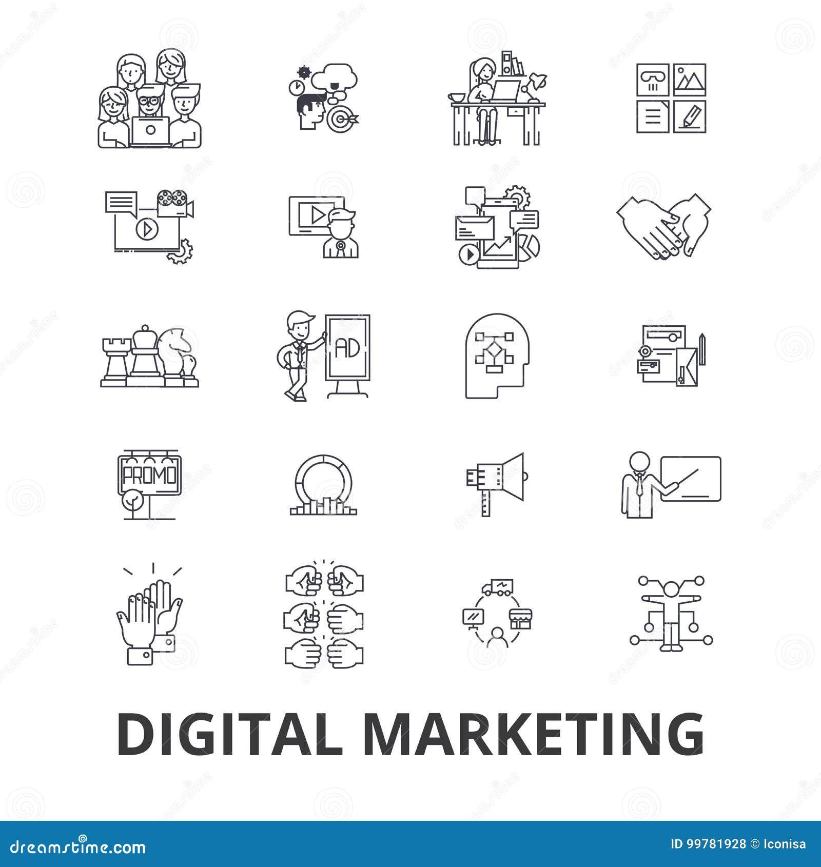 Icônes relatives de vente de Digital