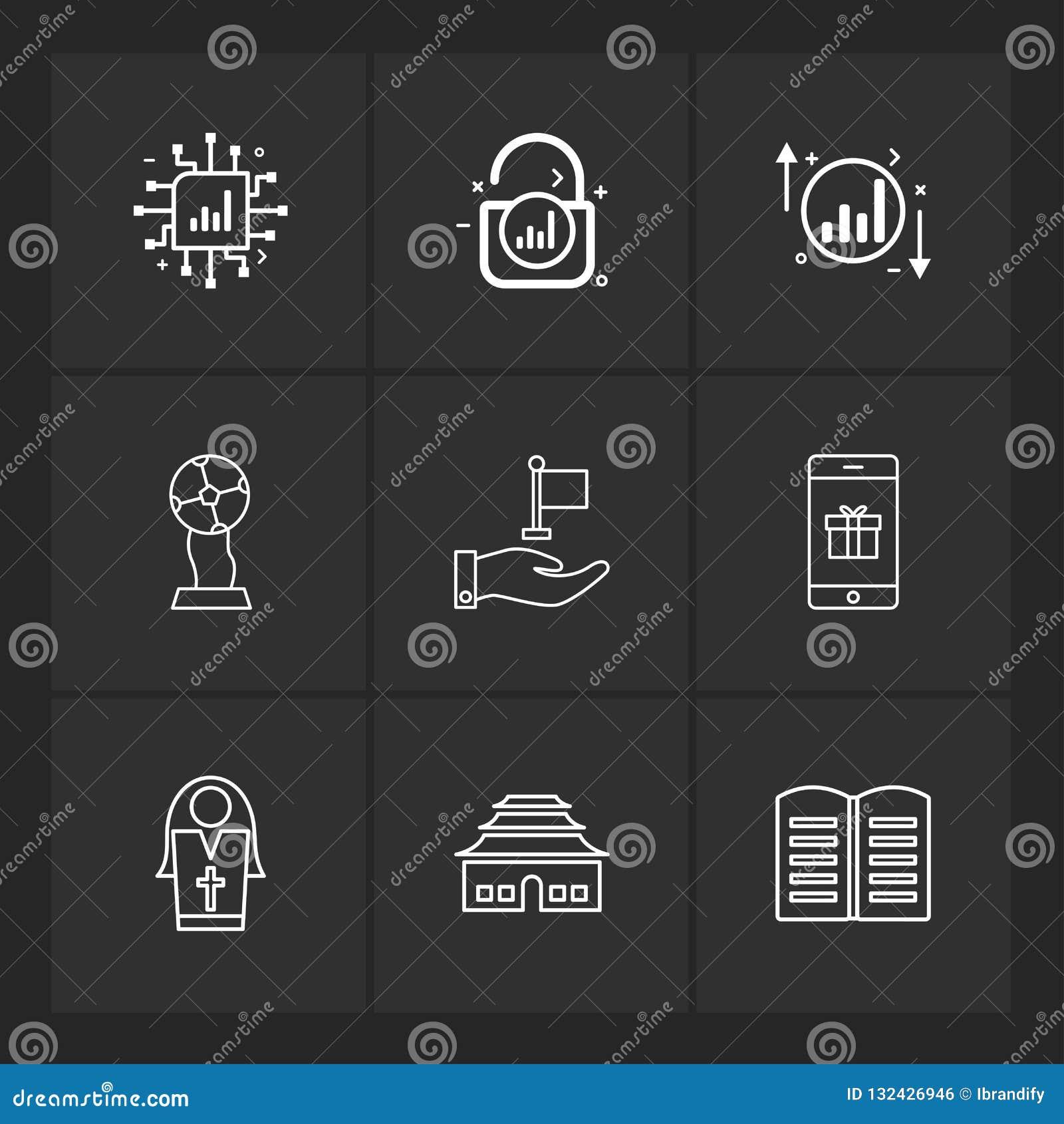 Ic , Lock , Unlock , Graph , Up , Down , Book , Smart Phone ,si
