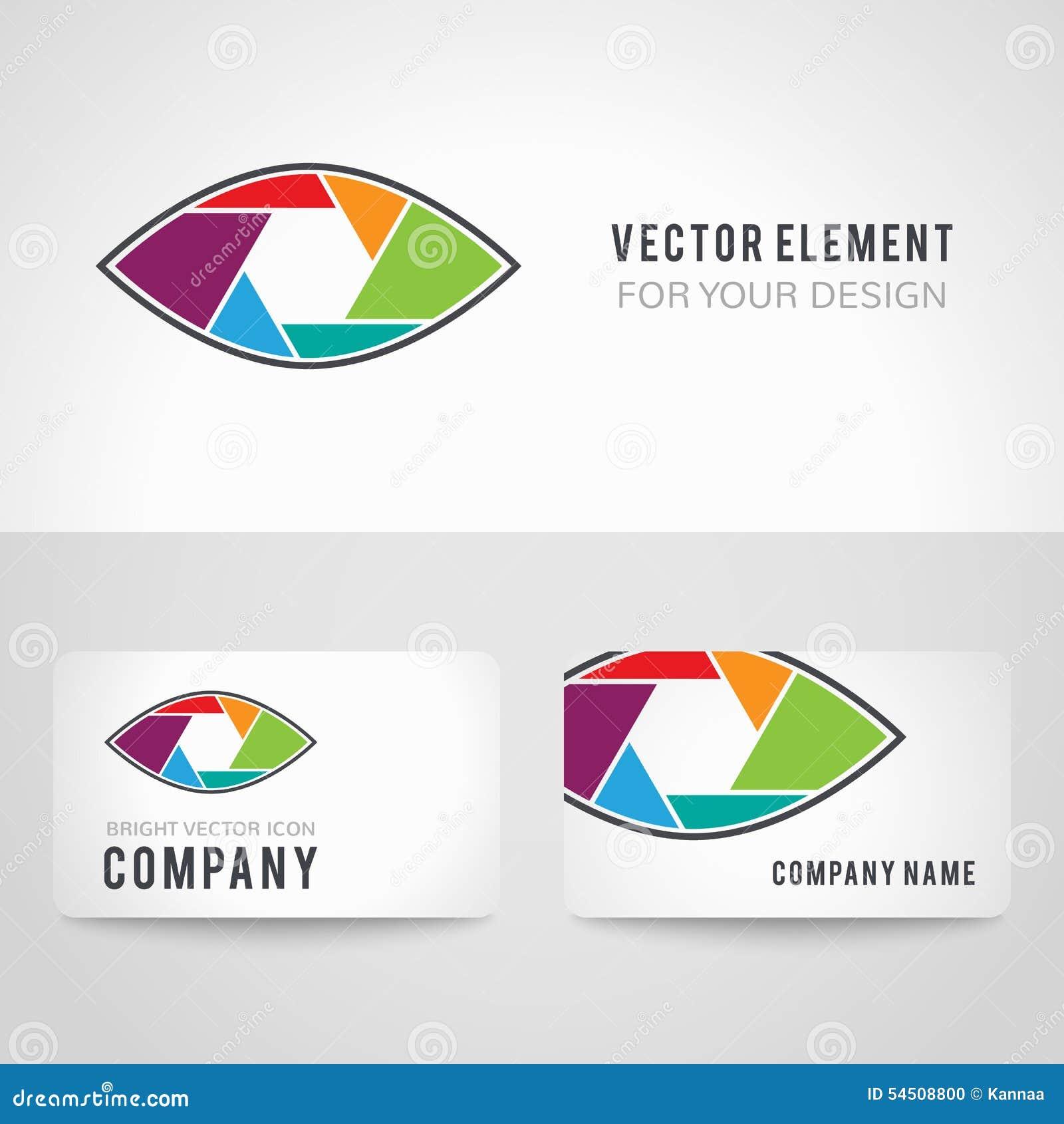 Icône abstraite plate conceptuelle de vecteur d oeil de volet