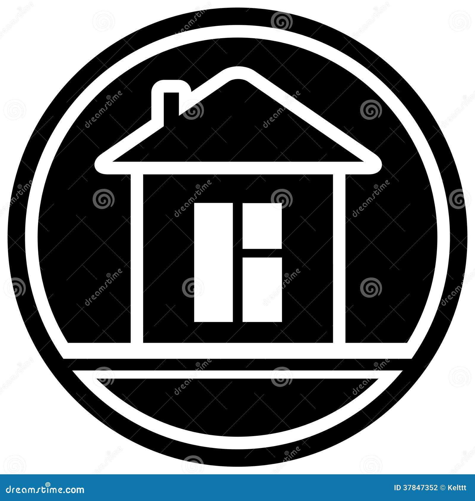 Ic ne avec la maison et la fen tre photographie stock for La maison de la fenetre