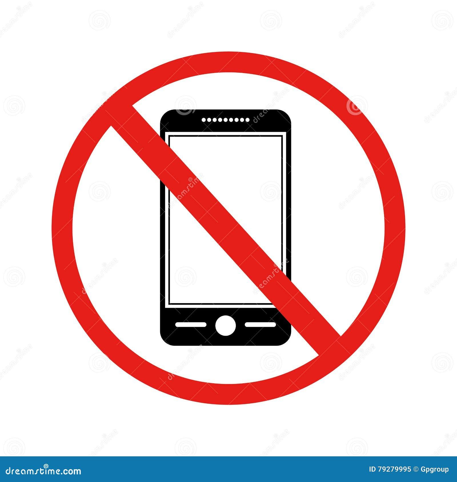 Icône Avec Le Téléphone Portable Interdit Par Signe ...