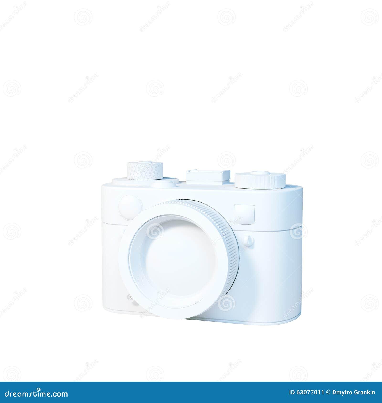 Download Icône Blanche D'appareil-photo De Vintage D'isolement Sur Le Fond Blanc Rende 3D Illustration Stock - Illustration du traditionnel, illustration: 63077011
