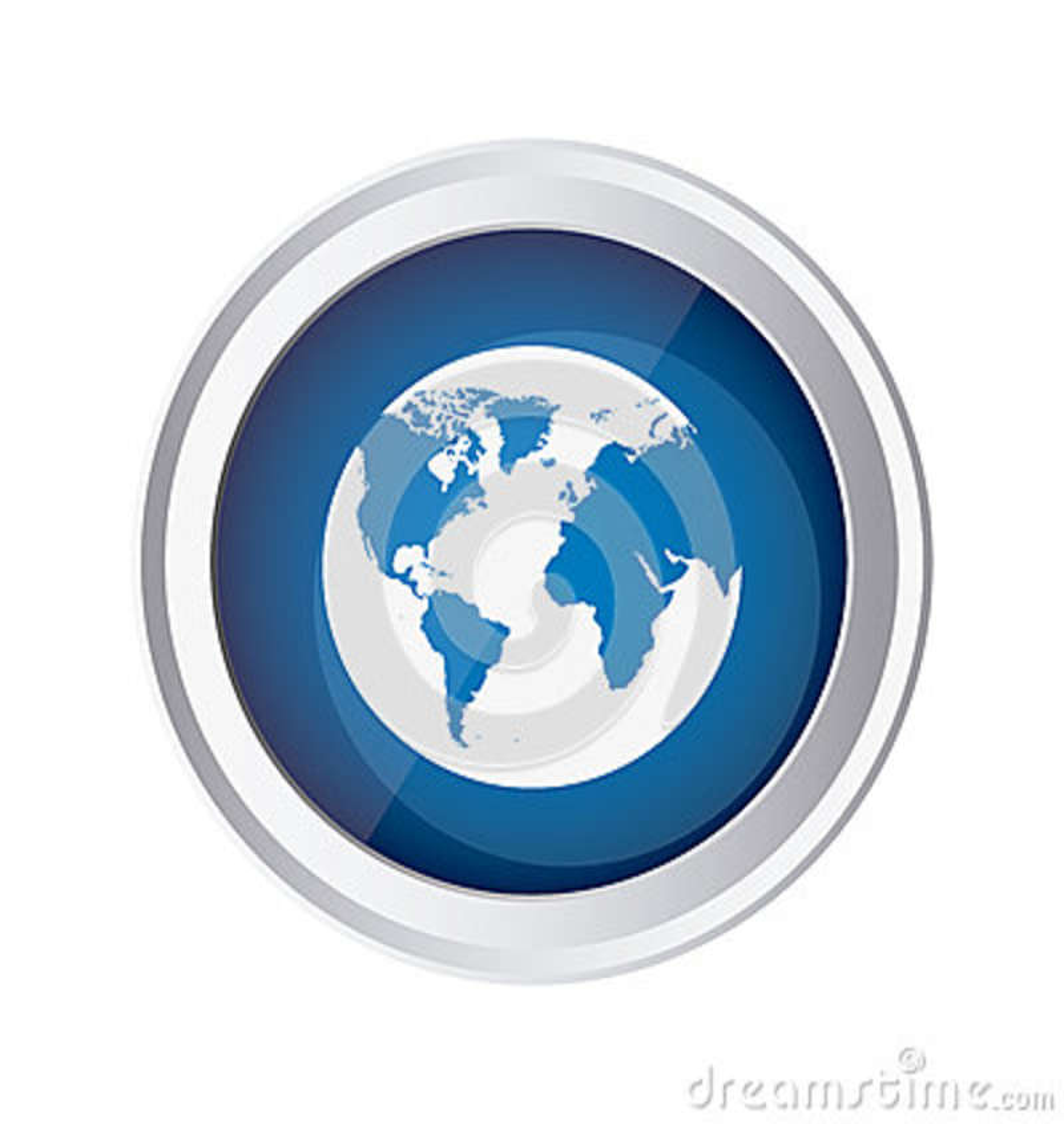 Icône bleue de planète de la terre d emblème
