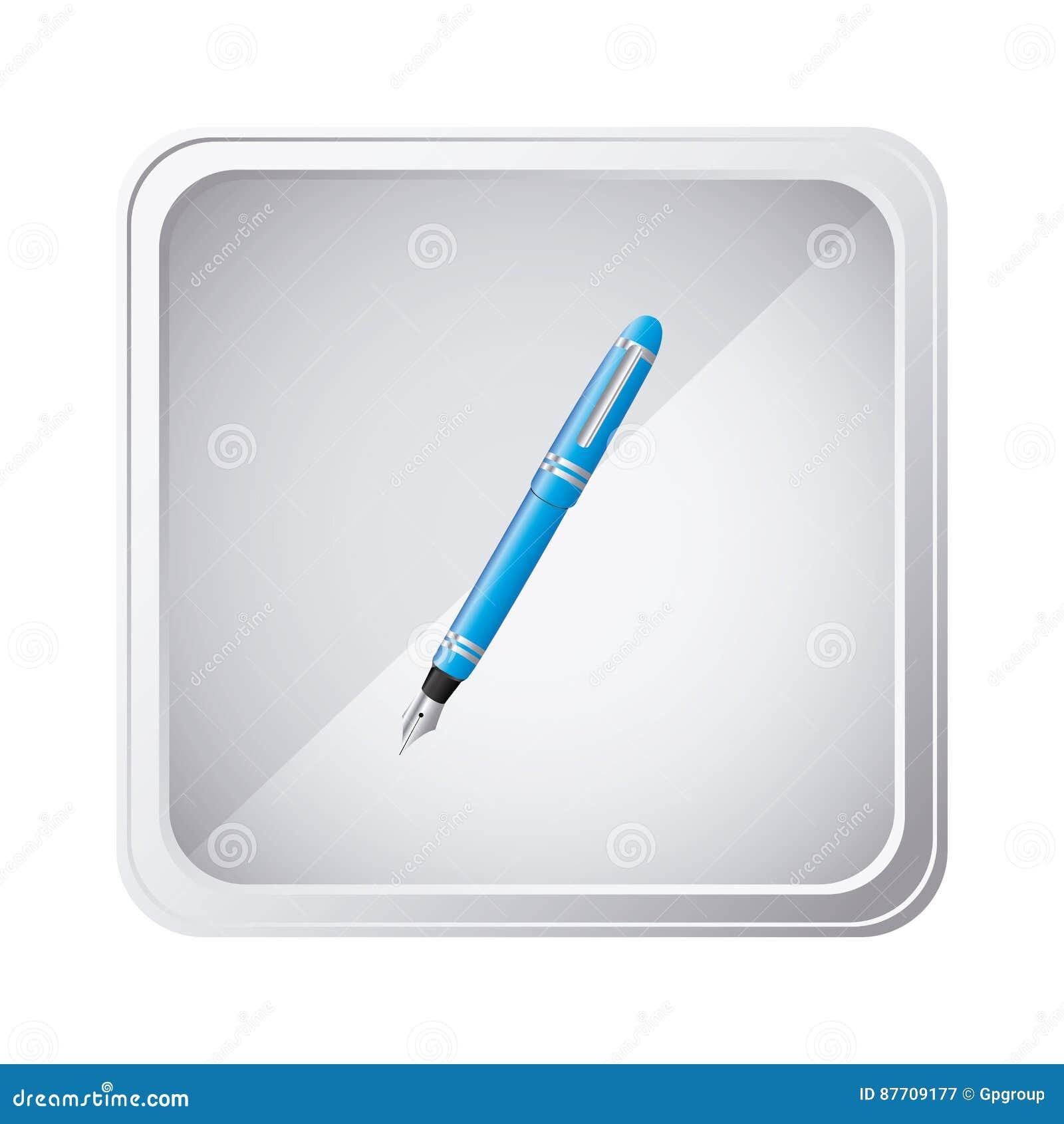 Icône bleue de pointe d emblème