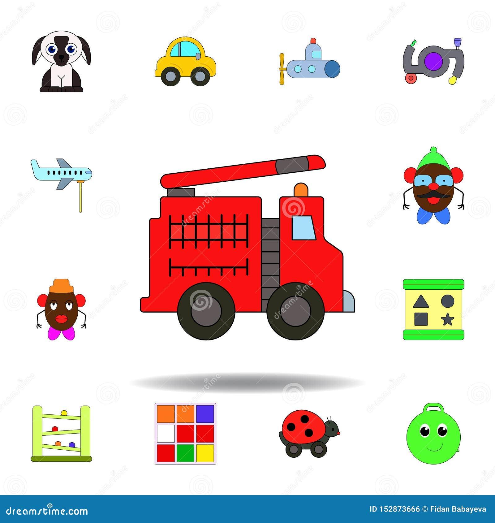 Ic Ne Color E Par Jouet De Voiture De Camion De Pompiers De Bande