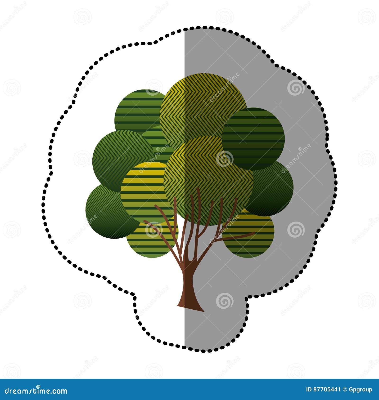 Icône créative d arbre de timbre
