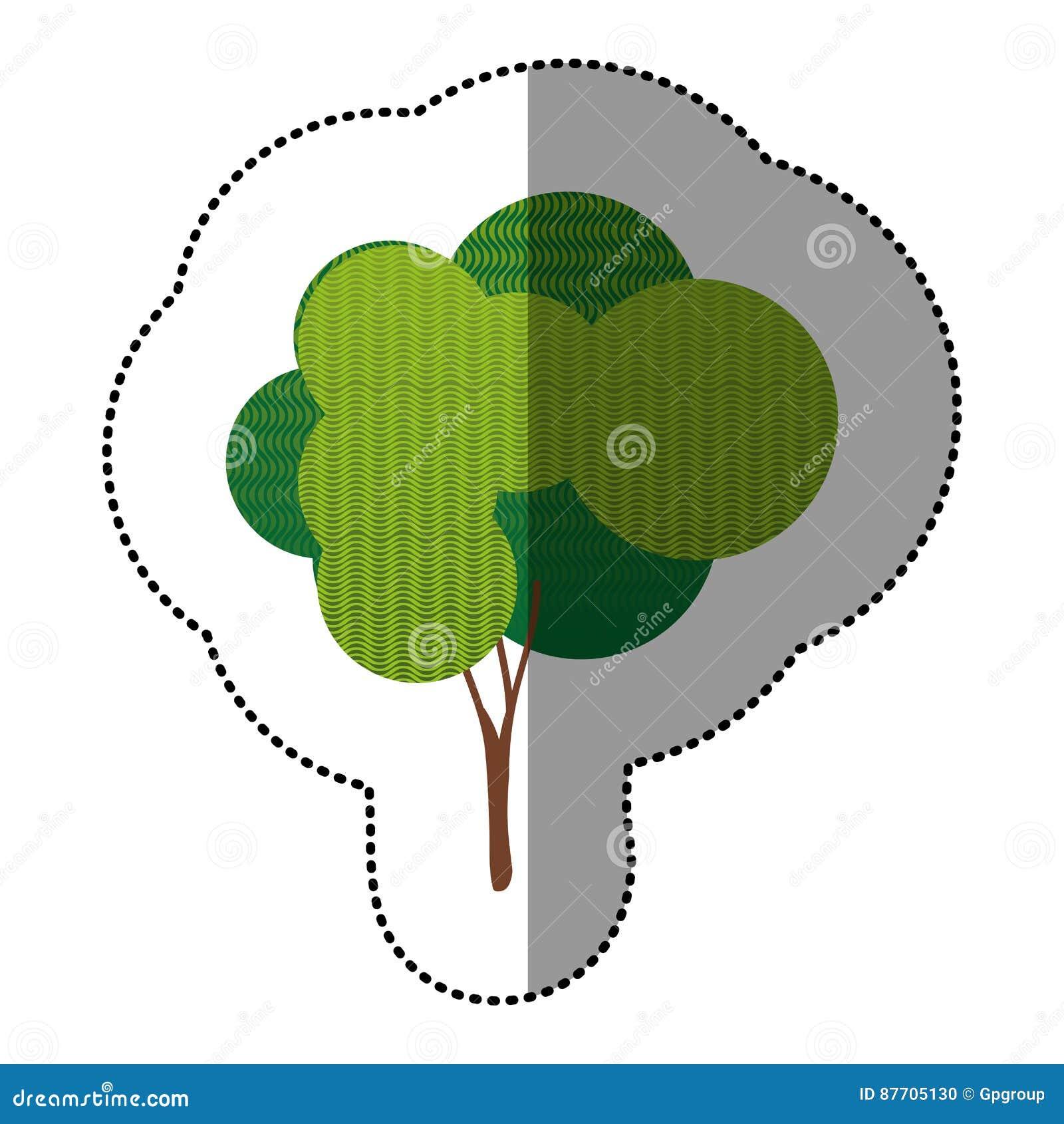 Icône créative d arbre de timbre de couleur