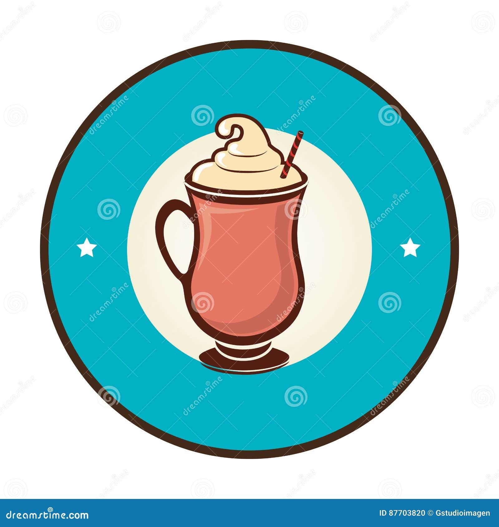 Icône délicieuse de boissons de milkshake