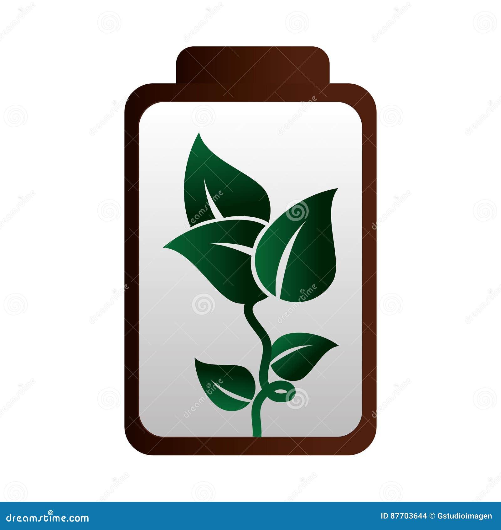 Icône d écologie d énergie de batterie