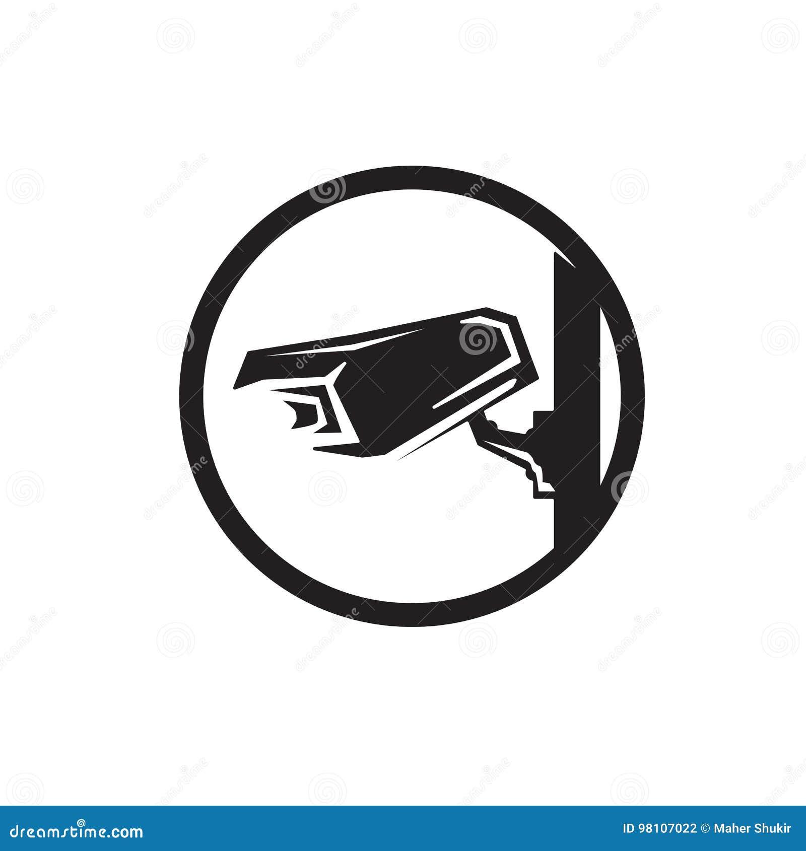 Icône d appareil-photo de télévision en circuit fermé