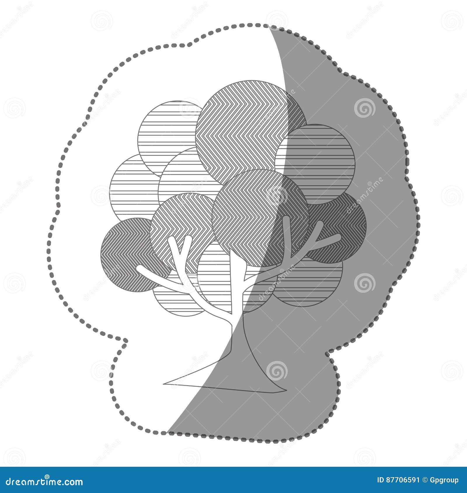 Icône d arbre de timbre de découpe belle
