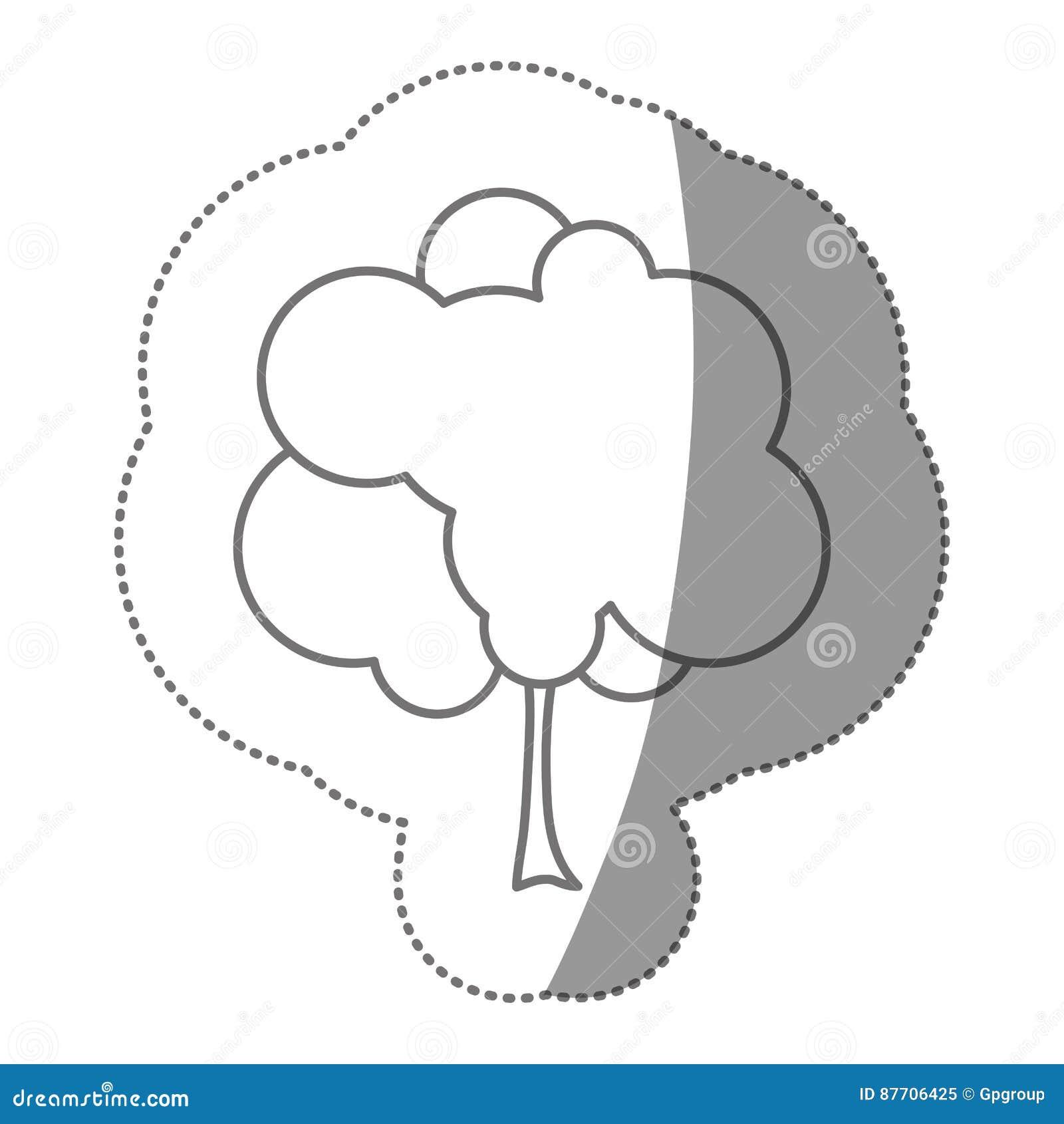 Icône d arbre de timbre de silhouette belle