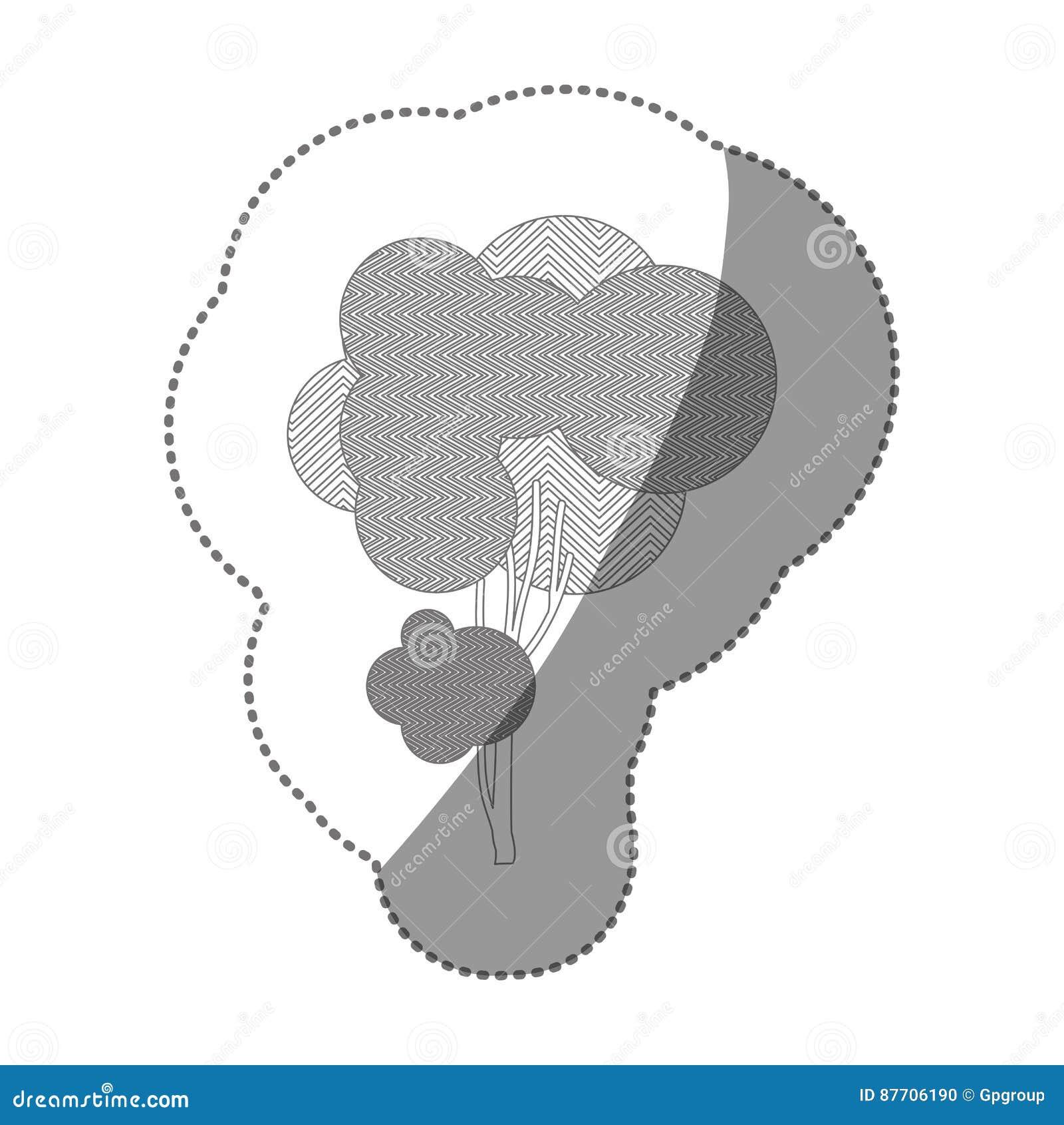 Icône d art d arbre d autocollant de découpe