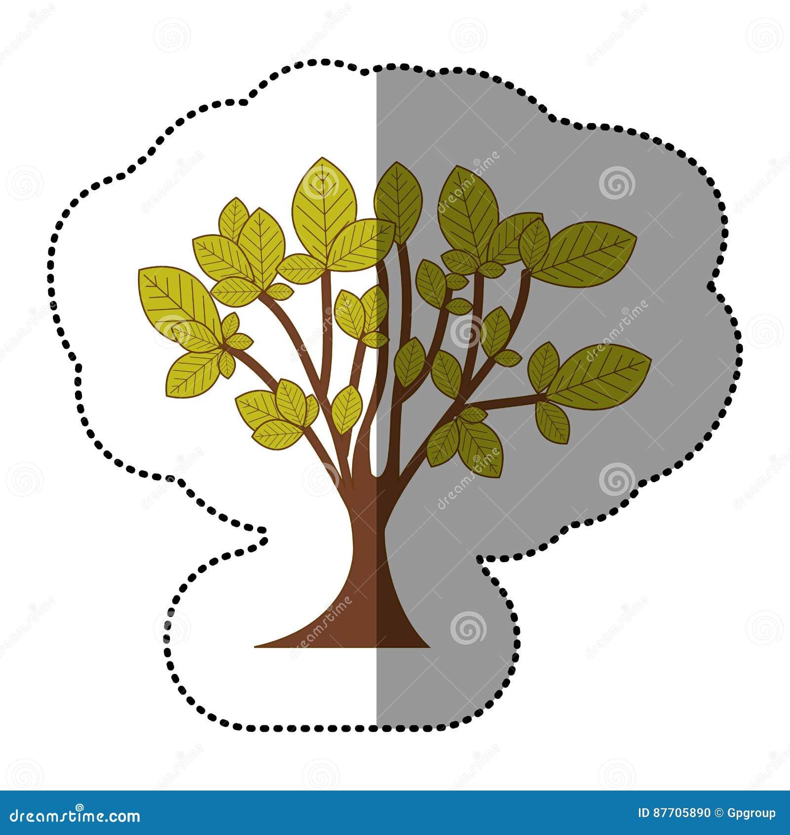 Icône d art d arbre de vert de chaux
