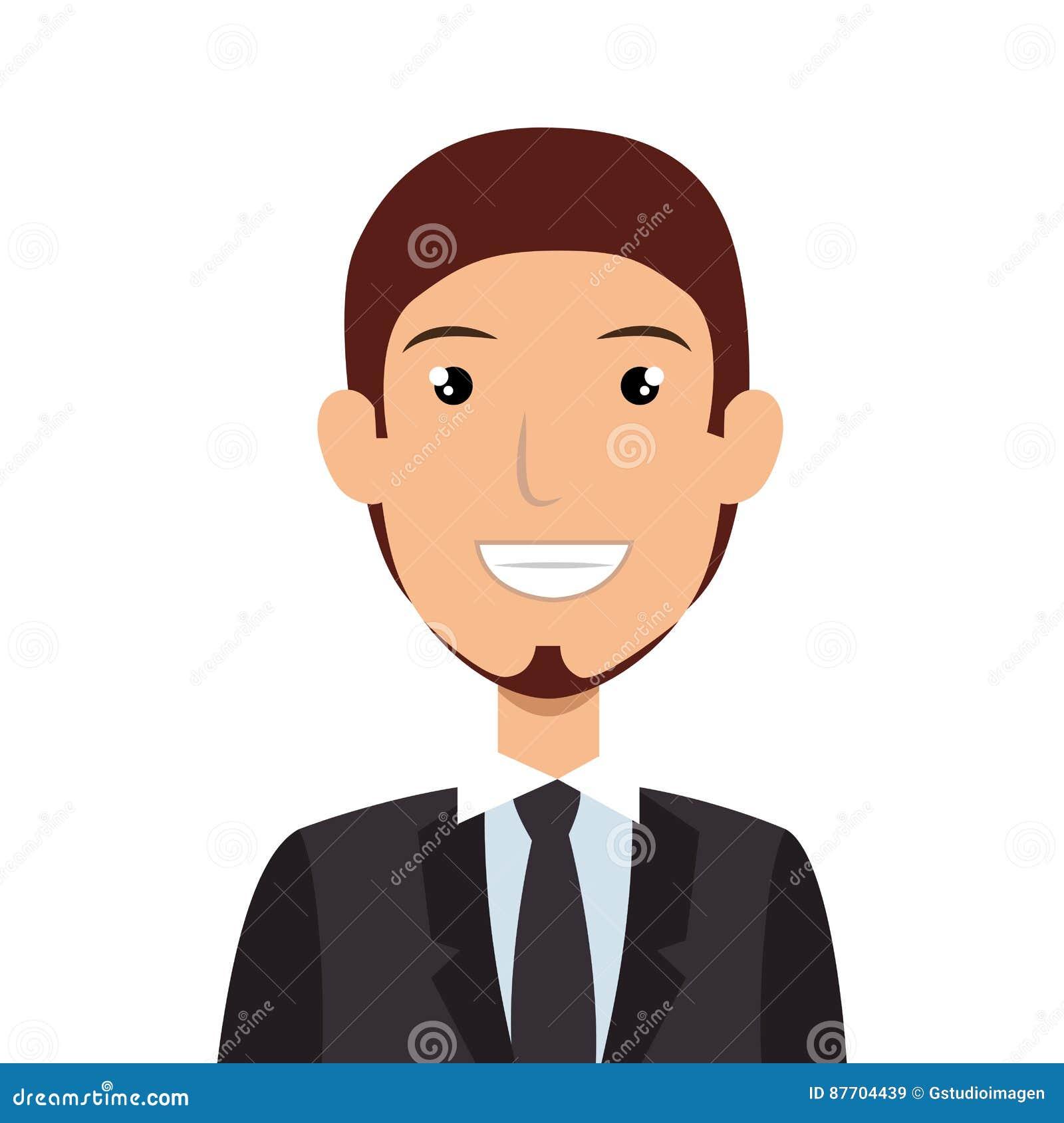 Icône d avatar de caractère d homme d affaires